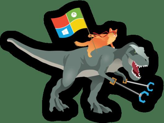 windows-ninja-cat-t-rex