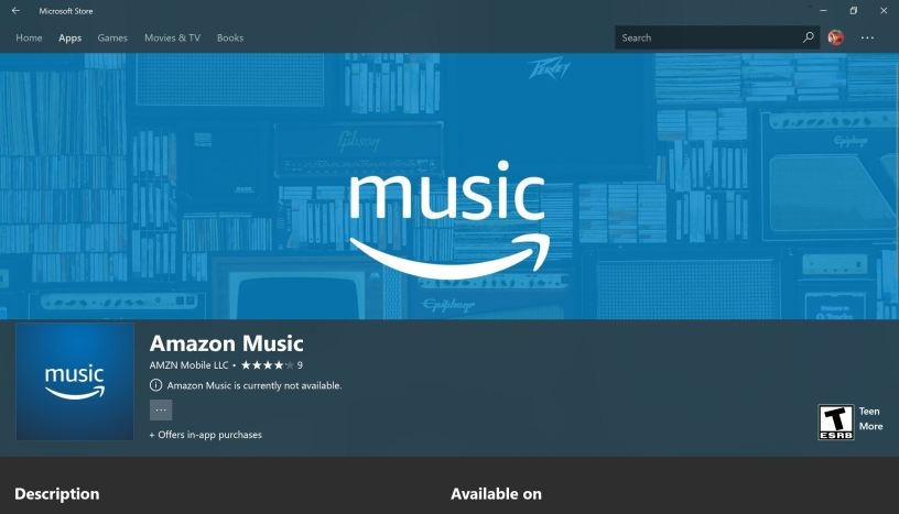Amazon Music arrives in Microsoft Store – irfaanwahid Tech